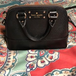 Kate Spade Black Leather Crossbody Great Condition
